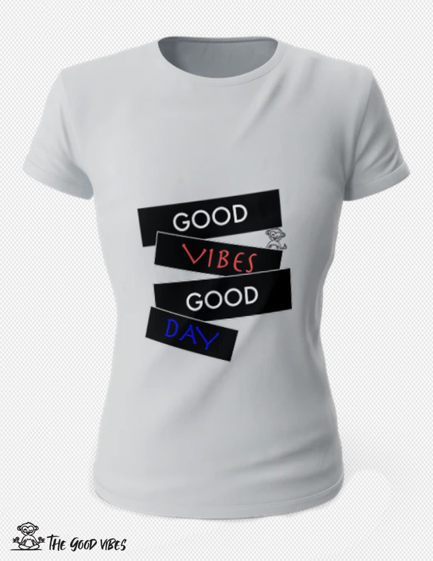 T-Shirt Donna - good day - - The Good Vibes