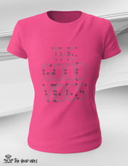 T-Shirt Donna - neon - - The Good Vibes