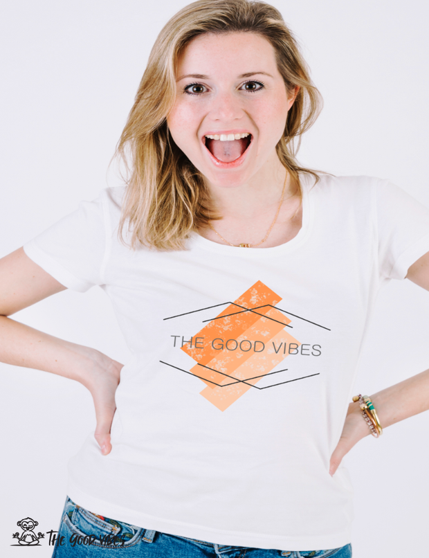 T-Shirt Donna - flat - - The Good Vibes
