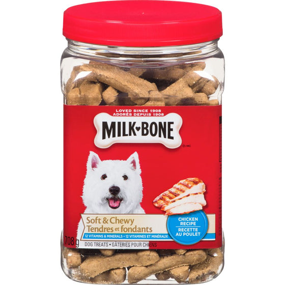 Milkbone Soft & Chewy Chicken Recipe Dog Treats (708 g)