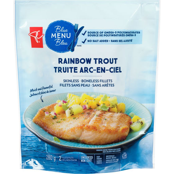 PC Blue Menu Rainbow Trout Fillet, Skinless (280g)