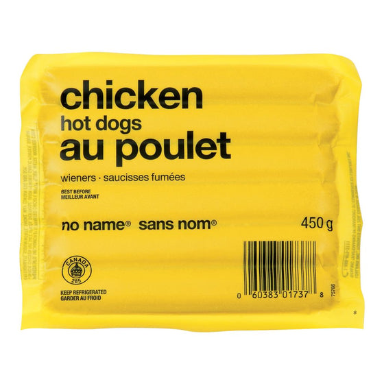 No Name Chicken Hot Dogs (450 g)