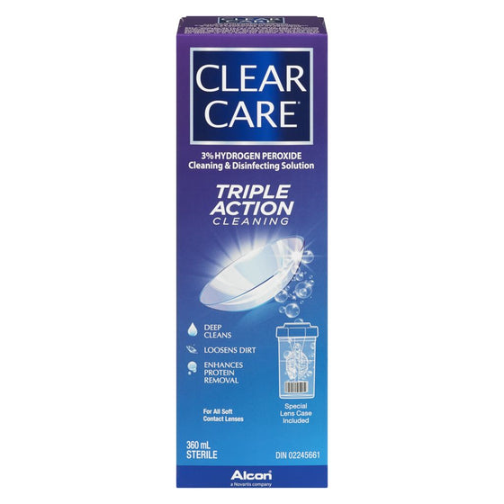 Clear Care Contact Lens Solution (360 mL)