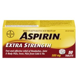 Aspirin 500 Mg Tablets (50 ea)