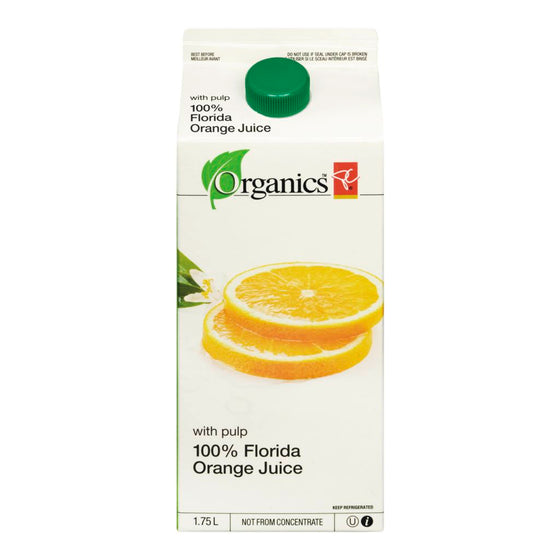 PC Organics 100% Florida Orange Juice With Pulp (1.75 L)
