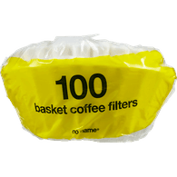 No Name White Basket Coffee Filters (100 each)
