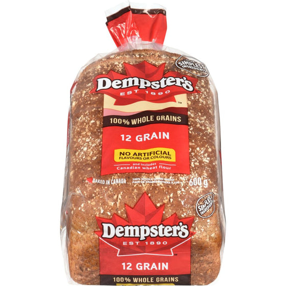 Dempster Wholegrains Bread, 12 Grain (600 g)