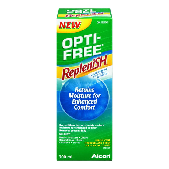 Opti-Free Replenish Contact Lens Solution (300 mL)