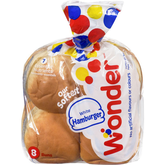 Wonder Hamburger Buns White Hamburger (8 buns)