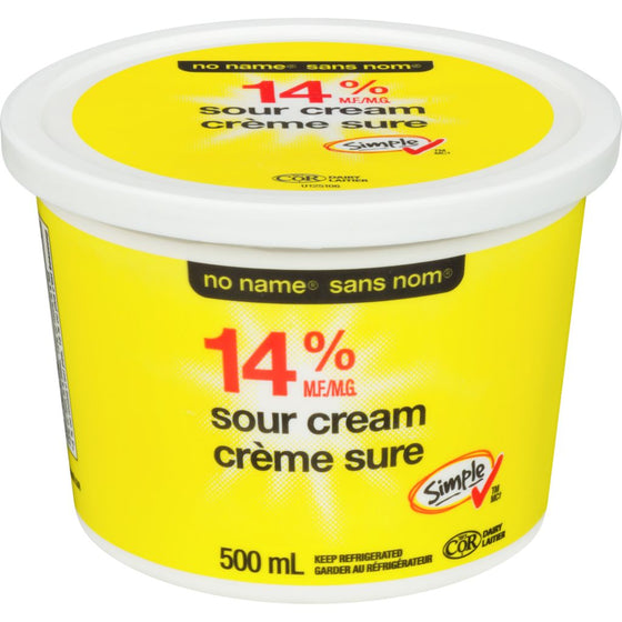 No Name Sour Cream, Regular 14% (500 mL)