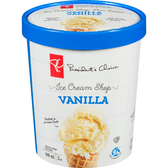 President's Choice Ice Cream Shop Flavours, Vanilla (946 mL)