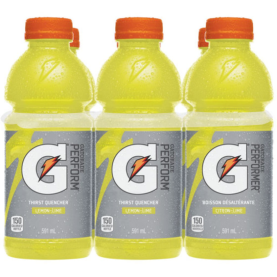 Gatorade Lemon Lime Sports Drink Case (6 x 591 mL)