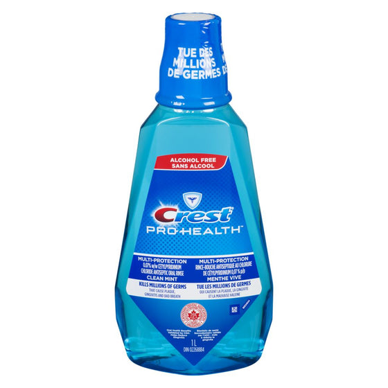Crest Multi-Protection Clean Mint Mouthwash (1 L)