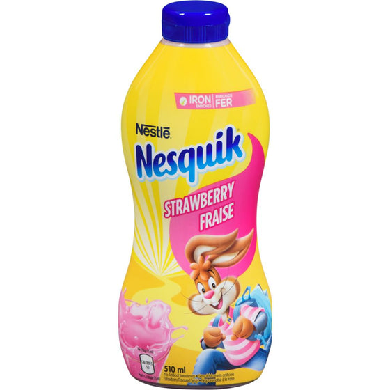Nesquik Iron Enriched Strawberrry Flavoured Syrup (510 mL)