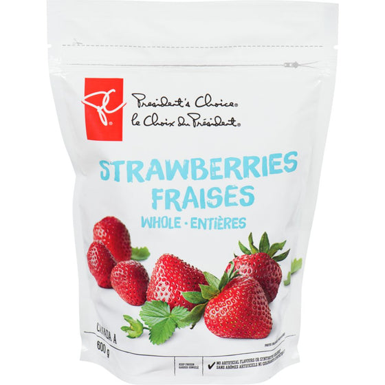 President's Choice Frozen Strawberries, Whole (600 g)