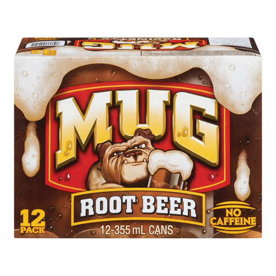 Mug Root Beer Soda Case (12 x 355 mL)