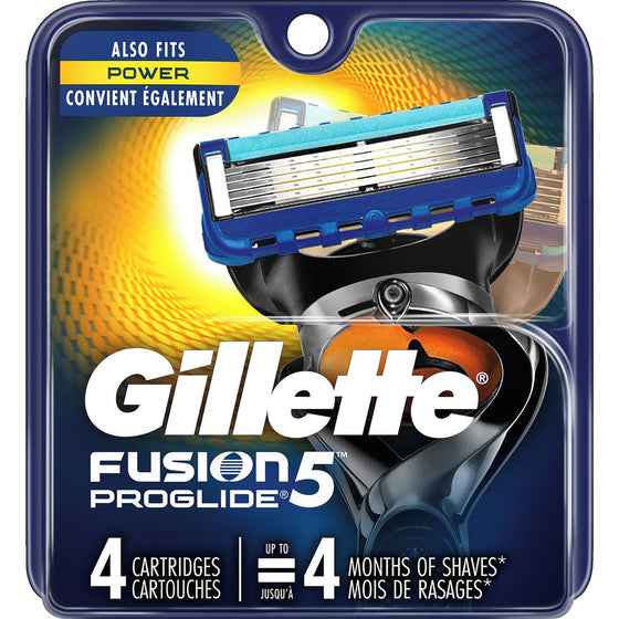 Gilette Fusion ProGlide Cartridge Refills (4 each)