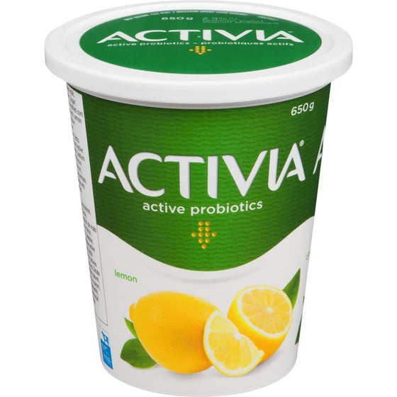 Danone Activia Yogurt with Probiotics, Lemon Flavour (650 g)