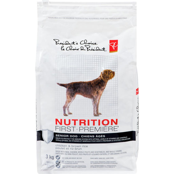 President's Choice Nutrition First Senior Dog Food (3 kg)
