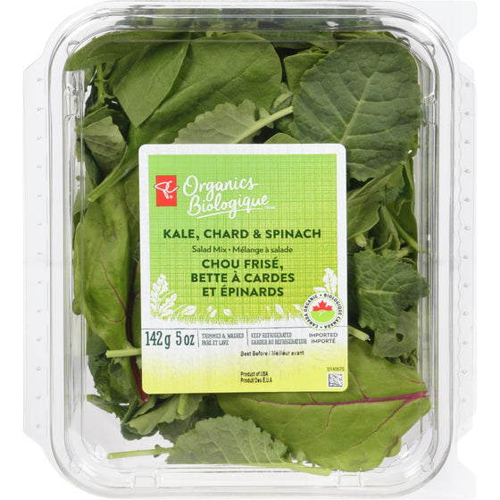 PC Organics Kale, Chard, Spinach Salad Mix (142 g)