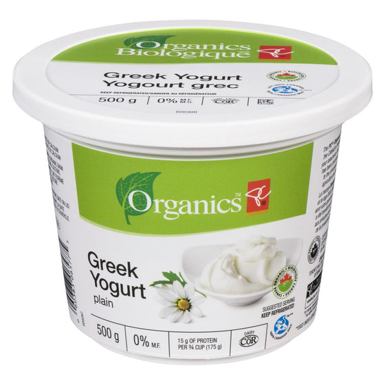 PC Organics Greek Yogurt, Plain (500 g)