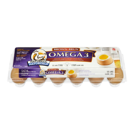 Naturegg Omega 3 Brown Eggs, Large (12 eggs)