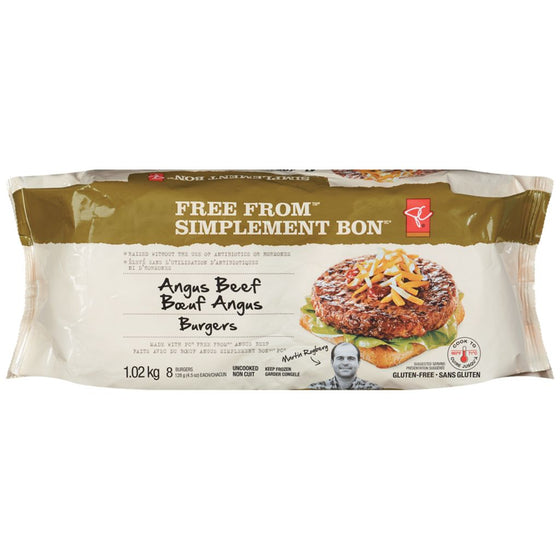 President's Choice Free From Angus Beef Burger (1.02kg)
