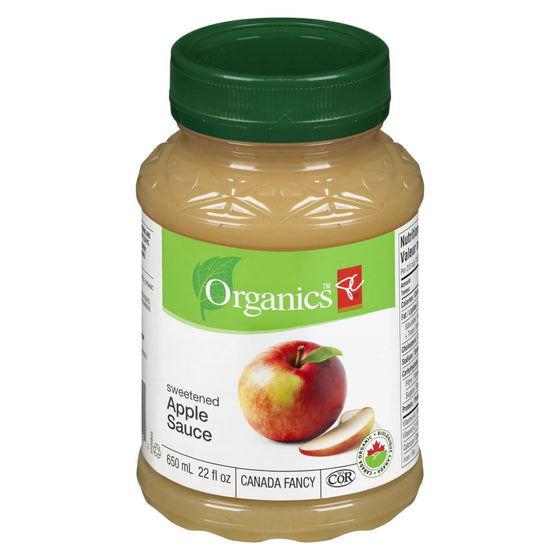 PC Organics Sweetened Apple Sauce (650 mL)