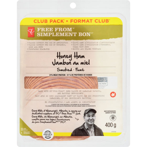 President's Choice Honey Ham, Club Pack (400 g)