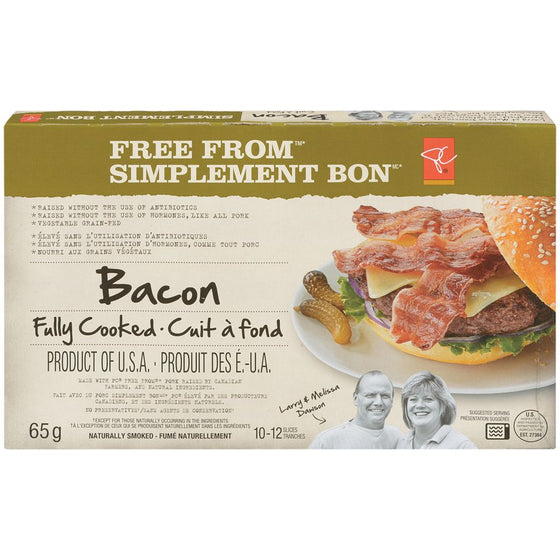 President's Choice Fully Cooked Bacon (65g)