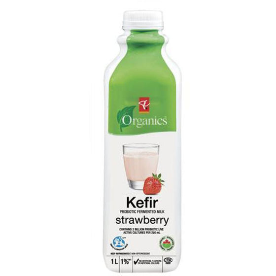 PC Organics Kefir Milk, Strawberry (1000 mL)