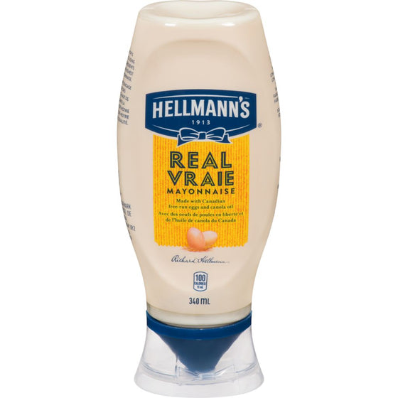 Hellmanns Real Mayonnaise, Easy Squeeze (340 mL)
