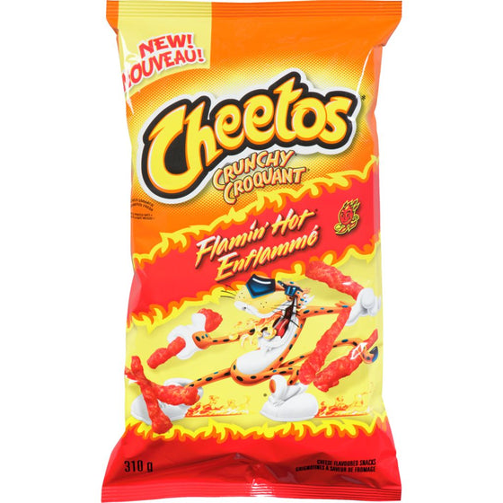 Crunchy Cheese Flavoured Snacks, Flamin' Hot (310 g)
