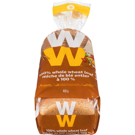 Weight Watchers 100% Whole Wheat Bread (450 g)