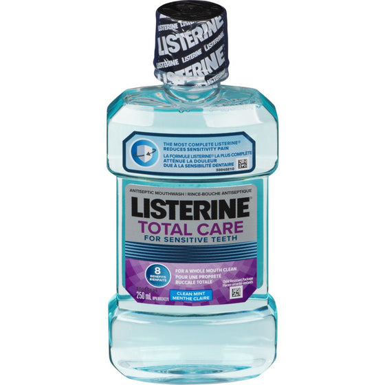 Listerine For Sensitive Teeth Clean Mint Antiseptic Mouthwash (250 mL)