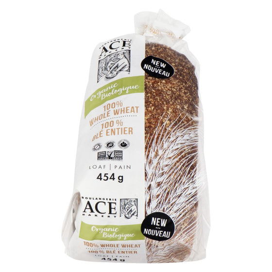 Ace Organic Whole Wheat Bread Sliced (454 g)