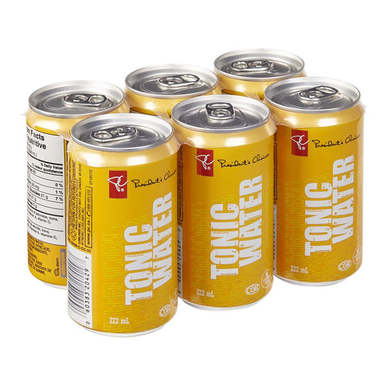 President's Choice Tonic Water Case (6 x 222 mL)