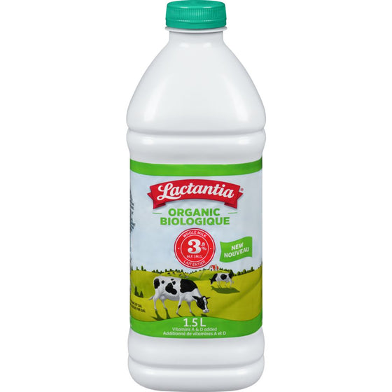 Lactantia Whole Milk Organic 3.8% M.F. (1.5 L)
