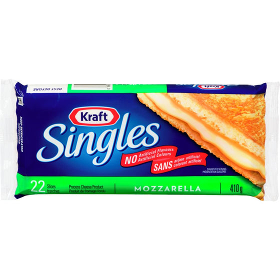 Kraft Mozzarella Processed Cheese Slices (410 g)
