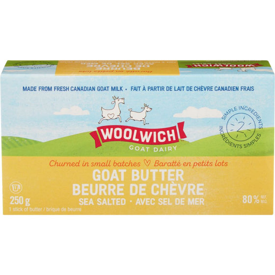Woolwich Dairy Goat Milk Sea Salted Butter (250 g)
