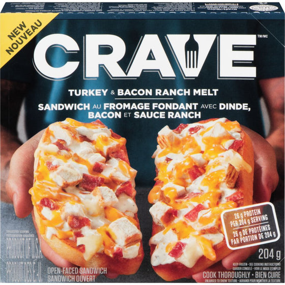 Crave Turkey & Bacon Ranch Frozen Melt (204 g)