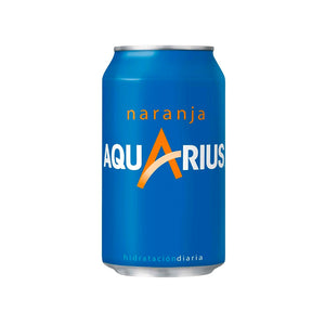 Aquarius naranja lata pack de 24