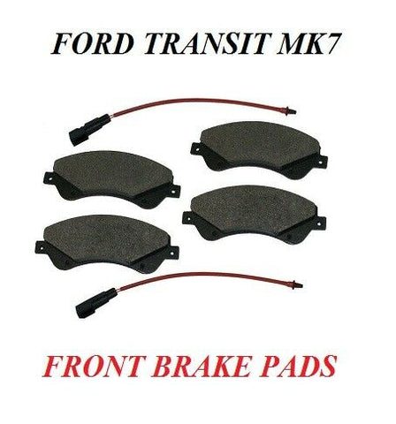 TO FIT FORD TRANSIT Mk 7 2.2 250,260,270,280,290,300,310 FRONT BRAKE PADS