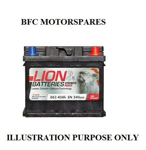 CAR BATTERY TYPE 063 (WILL FIT OTHERS)