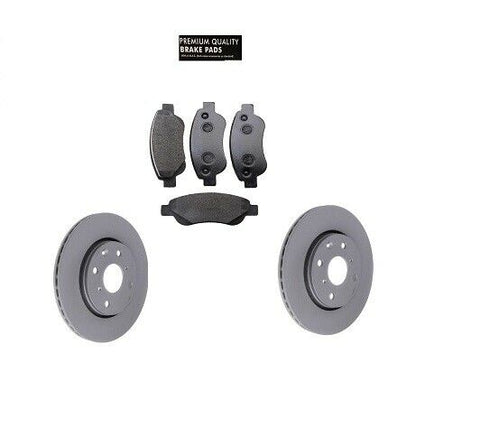 CITROEN C1 PEUGEOT 107 TOYOTA AYGO  FRONT BRAKE PADS AND DISCS SET 05-12