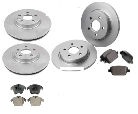 VAUXHALL VECTRA C & SAAB 93  FRONT & REAR BRAKE DISCS AND PADS SET