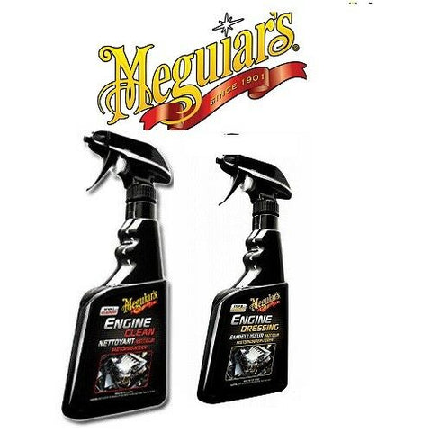 MEGUIAR'S ENGINE CLEAN 473ML & ENGINE DRESSING 473ML G14816EU G17316EU