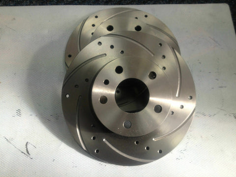 LANDROVER FREELANDER 1.8 2.0  FRONT DRILLED AND GROOVED BRAKE DISCS AND PADS
