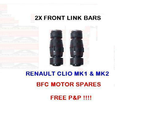 RENAULT CLIO FRONT ANTIROLL BAR STABILIZER DROP LINKS X 2