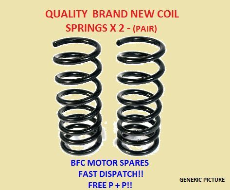 MITSUBISHI SHOGUN SPORT  2.5 3.0  2 REAR SUSPENSION COIL SPRINGS PAIR 00-07